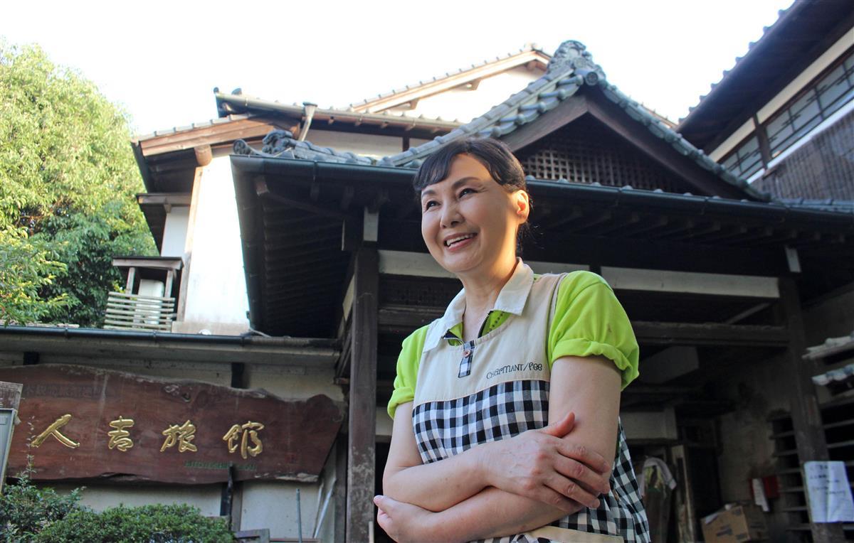 「必ず旅館を立て直します」。前を向く人吉旅館の女将、堀尾里美さん=熊本県人吉市