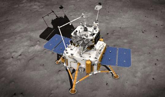「嫦娥5号」の月面作業場面説明図 (写真=中国国家航天局)