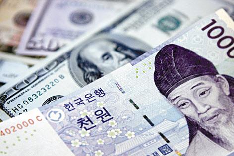 ウォン・ドル相場、1100ウォン台割り込む…2年6カ月来のドル安水準