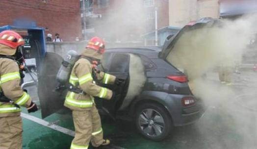 大邱(テグ)で先月23日、充電中の現代車コナで火災が発生した。[写真 大邱消防本部]
