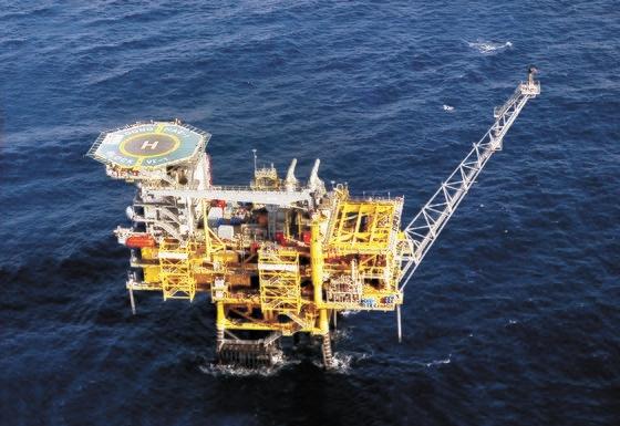 2004年に世界95番目の産油国の地位をもたらした東海ガス田の姿。韓国石油公社は早ければ今年末に生産を終了する予定だ。[写真 韓国石油公社]