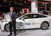 日本製の燃料電池自動車が世界新記録を達成してギネスブックに登録されてしまったと判明 8